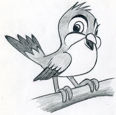 Learn To Draw Cartoon Bird Very Simple In Few Easy Steps - Resimkoy
