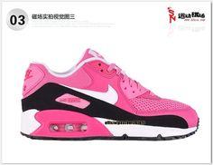 the latest ffb32 1bd1d Chaussures Nike Officiel Pas Cher Pour Femme Nike Air Max 90 Blanc - Noir -  Rose