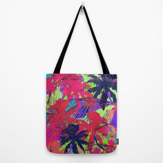 Tropical Palm // Canvas Tote // Bag by MarcellaWylie on Etsy, £26.00
