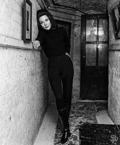 Diana Rigg as Emma Peel, circa 1965.