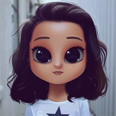 Cartoon, Portrait, Digital Art, Digital Drawing, Digital Painting, Character Design, Drawing, Big Eyes, Cute, Illustration, Art, Girl, Breanna Yde, Star, School of Rock