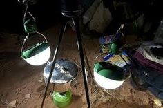 #Nokero solar lightbulbs working at night time. #rvsolarsupplies #solar #Solardarity #charity