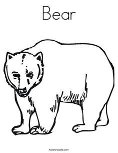 Bear Coloring Page | Baybear | Pinterest | Bears, Teddy bear crafts ...
