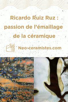 Céramiste autodidacte et gérant de Montreal Mosaïc Lab, et passioné d'émaux, Ricardo Ruiz Ruz, répond à mes questions dans la dernière interview du blog neo-ceramistes !  Questions, Interview, Sculpture, Painted Ceramics, Ceramic Pottery, Sculpting, Statue, Sculptures