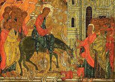 Вход Господень в Иерусалим   Кириллица Russian Icons, Illuminated Manuscript, Byzantine, Mythology, Jesus Christ, Objects, Display, Creative, Illustration