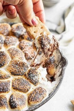 Nothing is better than a gooey and simple three ingredient s'mores dip