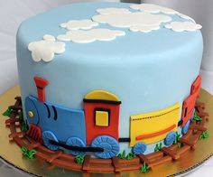 Pricing for Custom Cakes and Desserts Toddler Birthday Cakes, Baby Boy Birthday Cake, Make Birthday Cake, Bithday Cake, Train Birthday Cakes, 3rd Birthday, Cake Bake Shop, No Bake Cake, Cake Decorating For Kids