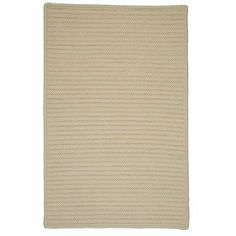 """Simply Home Solid Cream Braided Rug Rug Size: Square 11' by Colonial Mills. $859.14. H015R132X132S Rug Size: Square 11' Features: -Technique: Braided.-Material: 100pct Polypropylene.-Origin: USA.-Reversible.-Stain resistant.-Fade resistant. Construction: -Construction: Hand guided. Dimensions: -Pile height: 0.5"""".-Overall Dimensions: 34-168'' Height x 22-132'' Width x 0.5'' Depth. Collection: -Collection: Simply Home Solid."""