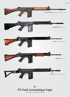 FN Fusil Automatique Leger (FN FAL) by graphicamechanica Weapons Guns, Airsoft Guns, Guns And Ammo, Assault Weapon, Assault Rifle, Rifles, Fal Rifle, Battle Rifle, Firearms