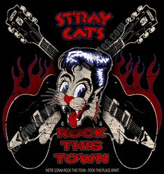 Sweatshirt Stray Cats Rock This Town From The