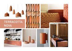 KLEURENTRENDS 2019 | Ontdek de kleur en woontrends van 2019 Colour Schemes, Color Trends, Color Combinations, Terracotta, Feng Shui, Nova, Natural Wood, Shoe Rack, Paint Colors