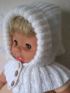 Knitted  balaclava hat  with pompom. - pinned by pin4etsy.com