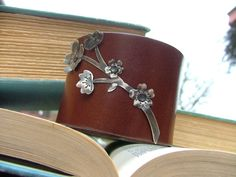 Spring Blooms Collection 2 inch brown firm cuff by MyBella www.Facebook.com/MyBellaByLizLollar
