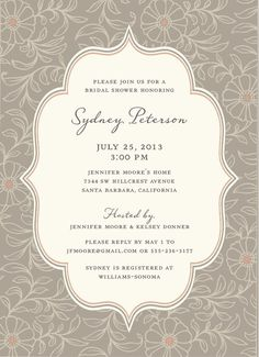 floral vintage wedding invitations - Αναζήτηση Google