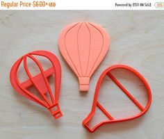 ON SALE - SAVE 30% on Hot Air Balloon #4 -  Cookie Cutter and Stamp Set by CookieCutters4U on Etsy