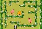 Ajude o pandinha a achar o caminho para sair do labirinto!