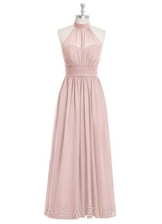 Iman, affordable floor-length chiffon bridesmaid dress