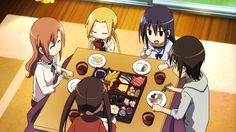 e35: The student council members celebrate new year at Tsuda's house