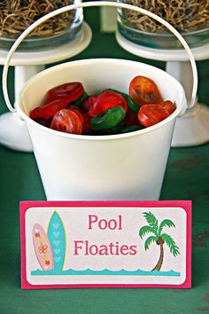 Gummy pool floaties from a Hawaiian Luau Birthday Party on Kara's Party Ideas | KarasPartyIdeas.com (20)