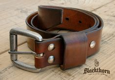 """Men's Leather Belt, Rustic Leather Belt, - Antiqued Brown, 1.5"""" wide with pewter finish roller buckle by BlackthornLeather on Etsy https://www.etsy.com/listing/200061828/mens-leather-belt-rustic-leather-belt"""
