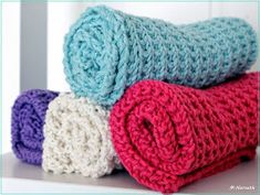 Strikkezonen: Oppskrift på strikket klut. Knit Dishcloth, Merino Wool Blanket, Baby, Knitting, Tricot, Breien, Babies, Stricken, Weaving