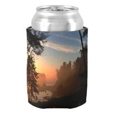 Ruby Beach Can Cooler
