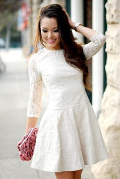 Effortlessly sweet in our lace dress! - in Janine's closet - J.R.