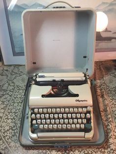 Vintage Olympia Typewriter Cursive Manual Typing w Case West Germany | eBay