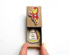 """Father's day Card/ Iron Man Love card/ Funny Boyfriend Card/ Marvel Love Card for Him/ Iron man Card/ """"You are my Iron Man"""" Matchbox/ Unique Gifts For Him, Love Gifts, Diy Gifts, Matchbox Crafts, Matchbox Art, Birthday Cards For Him, Diy Birthday, Funny Birthday, Birthday Quotes"""