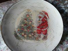 Prato de Natal com decoupage!!!