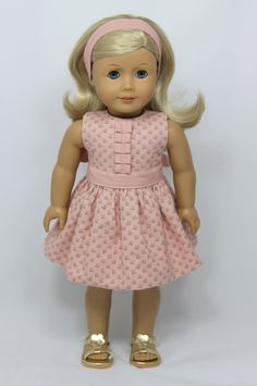 American Girl Doll Spring Easter dress and by dollpetitecouture, $32.00