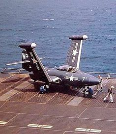 Carrier ops for a F9F Panther of VMF-223 USMC.