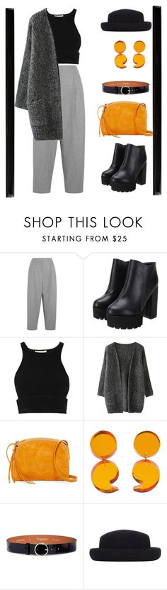 """.-."" by twentyonealien ❤ liked on Polyvore featuring Acne Studios, Jonathan Simkhai, HOBO, Maison Boinet, Topshop and Merola"