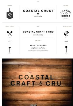 "I adore how many different ways their logo can be positioned. I love the way ""coastal"" makes an arch over the word crest. I love their simple little graphics as well. I love it all."