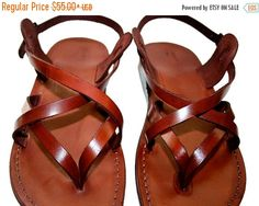 b0571942edae Brown Mix Leather Sandals For Men   Women - Handmade Unisex Sandals