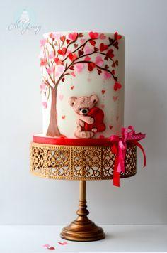 A Valentine's Day Cake Tutorial