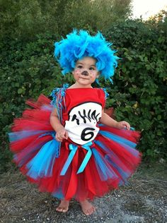 Thing 1 Thing 2- Dr. Seuss Cat In the Hat Tutu | eBay | Halloween ...