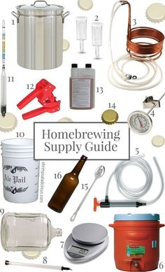 Homebrewing Crash Course - All the supplies you need to brew your own beer and where to get them! #InterestingStuff