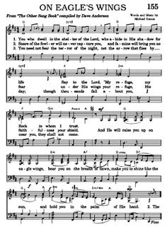 On Eagle's Wings is an excellent song for the end of the funeral Praise Songs, Worship Songs, Bible Songs, Church Songs, Church Music, Great Song Lyrics, Music Lyrics, Funeral Songs, Funeral Hymns