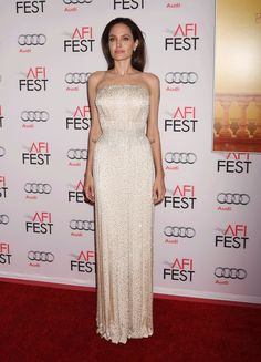 Pin for Later: Angelina Jolie's Versace Gown Looked Tailor-Made For Her —Because It Was