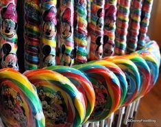 Disney lollipops. @Pam Baskins these should bring back some memories.