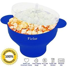 Oferta: 13.99€ Dto: -48%. Comprar Ofertas de Firlar Microondas Popcorn Popper Sturdy Comodas Asas, Silicona Popcorn Maker, Collapsible Bowl Con Tapa (Azul) barato. ¡Mira las ofertas!