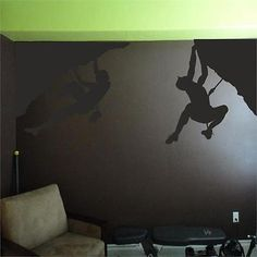 Rock climbers wall sticker vinyl #decal mountain silhouette #sports #climbing roc, View more on the LINK: http://www.zeppy.io/product/gb/2/151827699055/