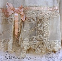 Wild Rose Vintage: 1920s Beautiful Vintage Wedding Dress and other pieces...