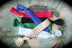 The  Frozen Anna  Inspired Pack of 6 Knotted Hair Ties by PlumPosh, $6.50