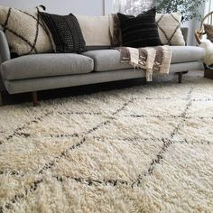 """Vintage Moroccan Beni Ourain rug 6'3"""" x 10'7"""" - from Rug & Weave"""