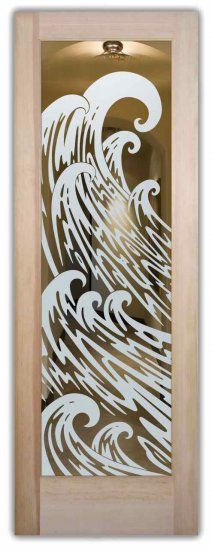 This glass door is hand-crafted, sandblast frosted and 3D carved with Available as an interior or entry door in 8 woods and 2 fiberglass, as a slab door or prehung in the jamb in any size, or as glass insert only (if you already have your door).  Inside our fun, easy to use online Door Designer at sanssoucie.com, you'll get instant pricing on everything as YOU customize your door and the glass!  When you're all finished designing, you can place your order right there online!