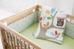skip hop treetop friends baby bedding - neutral nursery set up