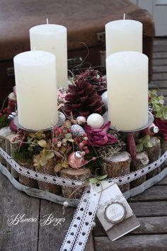 20 inšpirácií na krásne adventné vence, ktoré si môžete urobiť aj vy Christmas Advent Wreath, Christmas Candles, Christmas Centerpieces, Christmas Decorations, Advent Wreaths, All Things Christmas, Christmas Holidays, Xmas, Beautiful Candles