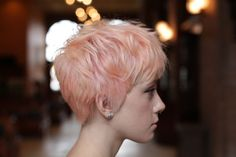 Pastel pink pixie by Jess. | Our Color | Pinterest